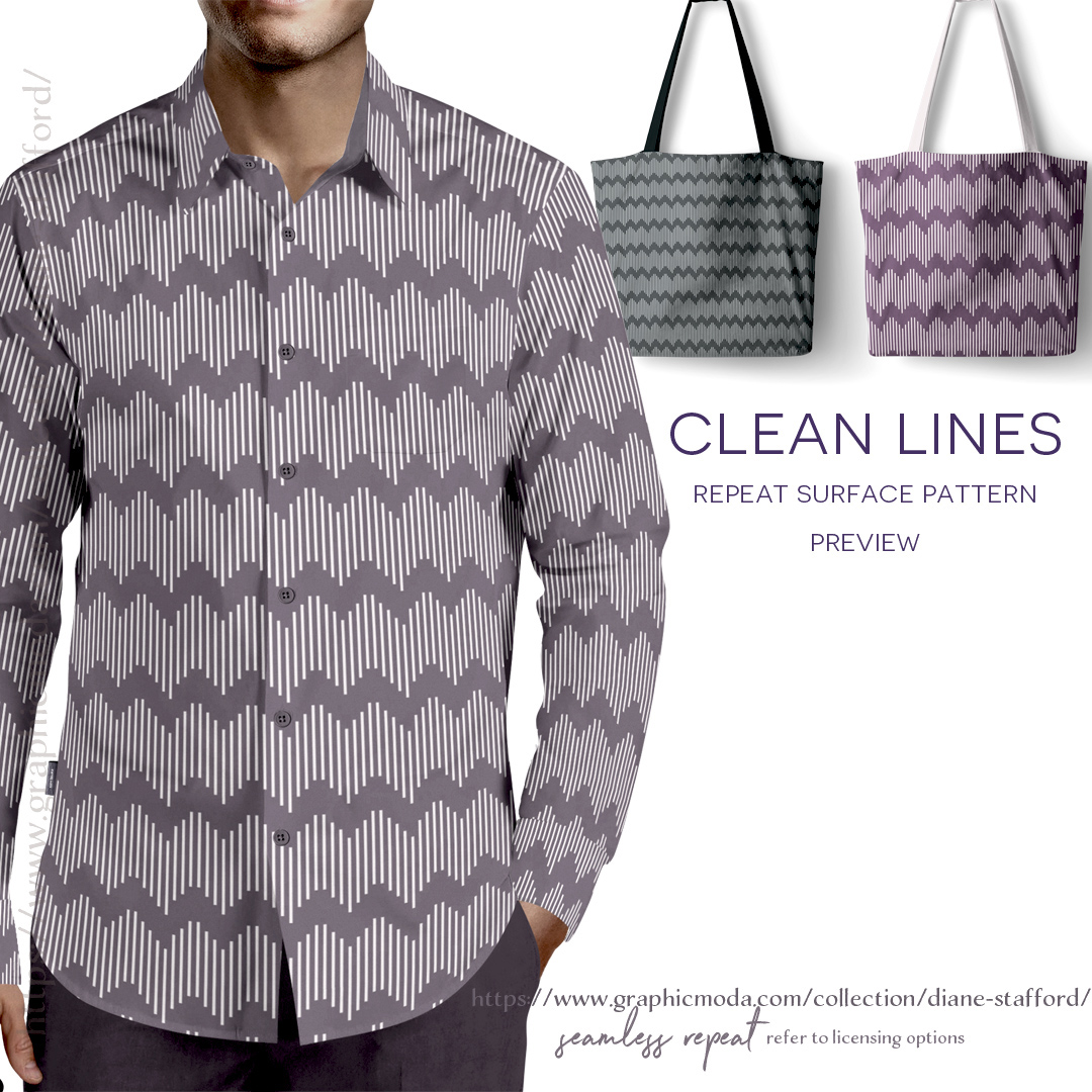 Clean Lines Surface Pattern Design