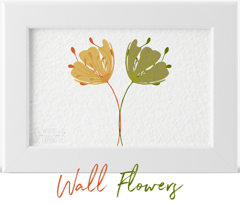 Wall Art Floral Motifs Kit
