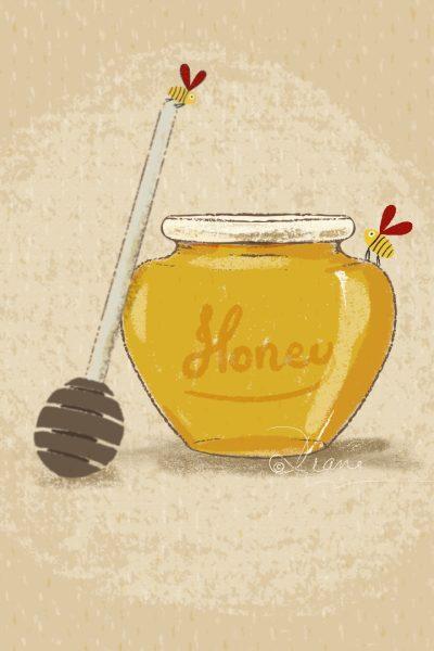Honey Love Card Illustration