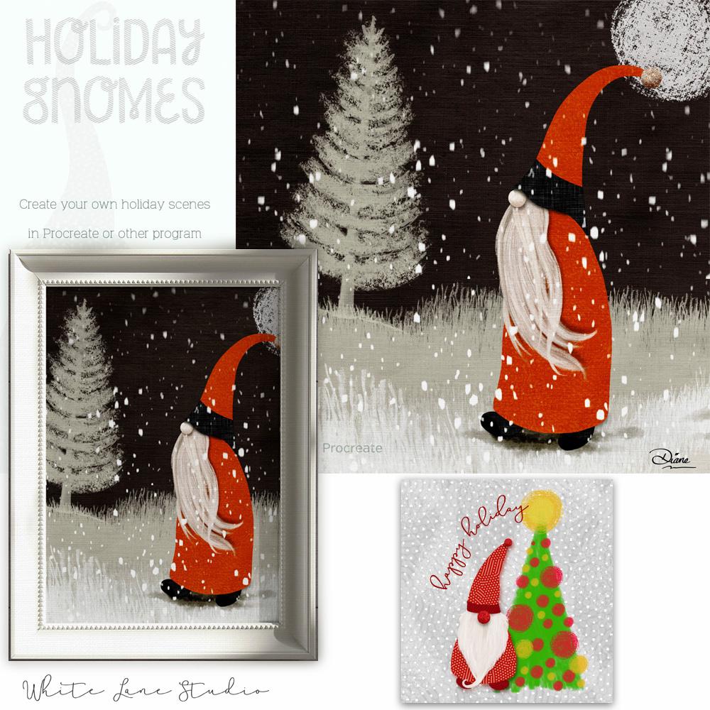 Christmas Card Gnomes