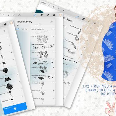 Floral Motifs Kit Update on Creative Market